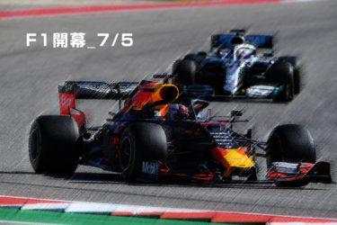 F1 2020 7/5 開幕!